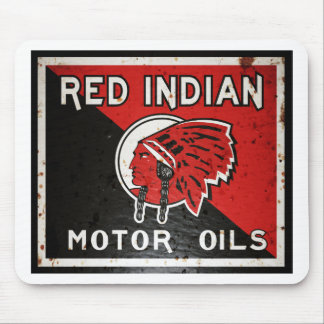 Red Indian Motor Oil sign rusted vers. Mouse Pad