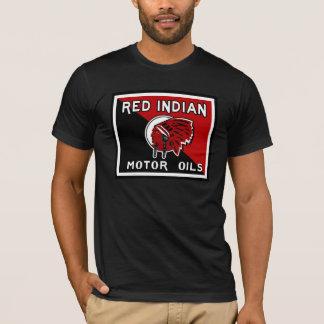 Red Indian Motor Oil vintage sign. Flat version T-Shirt