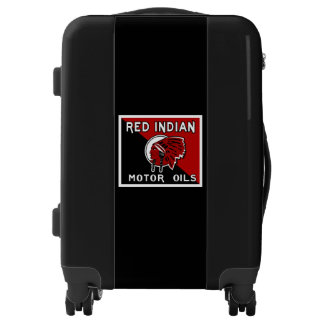 Red Indian Motor Oil vintage sign reproduction Luggage