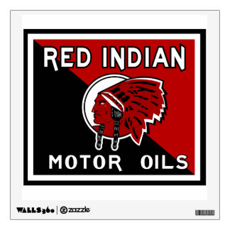Red Indian Motor Oil vintage sign reproduction Wall Decal