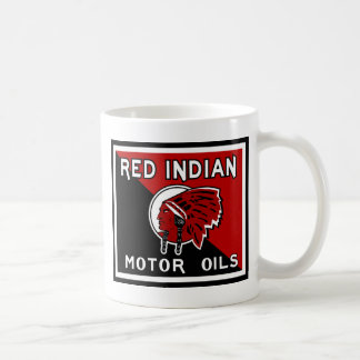 Red Indian Motor Oils vintage sign Classic White Coffee Mug