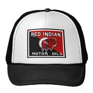 Red Indian Motor Oils vintage sign Trucker Hat