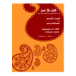 Red Indian Save the Date Postcards