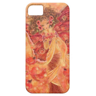 Red Indian Silk Moth Fairy iPhone 5 Case