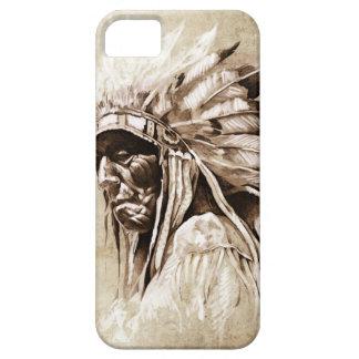 Red Indian Sketch Design iPhone SE/5/5s Case