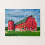 """Red Indiana Barn Jigsaw Puzzle<br><div class=""""desc"""">This colorful Jigsaw Puzzle features a photograph of a big red barn in Indiana.</div>"""