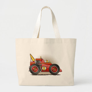 Red Indy Race Car Bags/Totes Jumbo Tote Bag