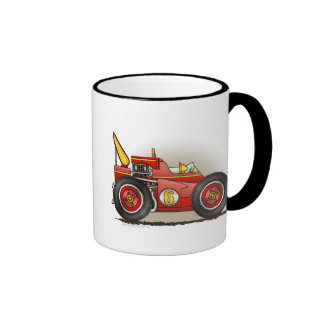Red Indy Race Car Mugs
