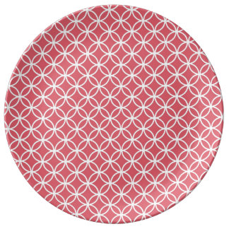 Red Infinity Circles Plate