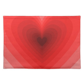 Red Infinity Heart Pattern Cloth Place Mat