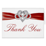 Red Infinity Heart Thank You Card Greeting Card