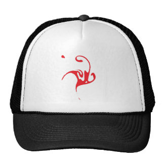 Red Ink Character Trucker Hat