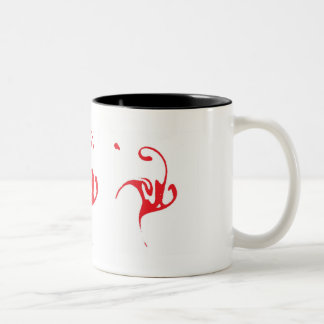 Red Ink Character Two-Tone Coffee Mug