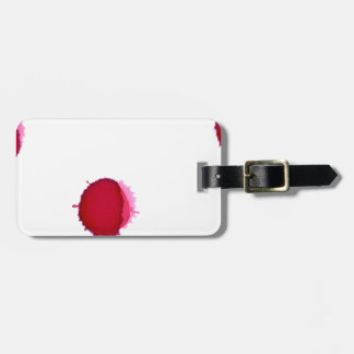 Red Ink Splash Bag Tag