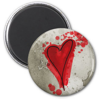 Red Inky Heart Magnet