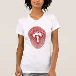 "Red ""INNER FLAME/TEMPLE INCENSE"" Womens T-Shirt"