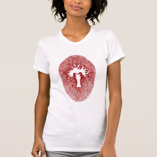 """Red """"INNER FLAME/TEMPLE INCENSE"""" Womens T-Shirt"""