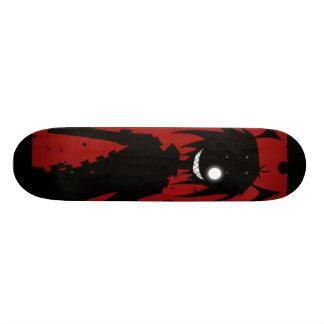 Red insane skateboard deck