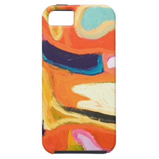 Red Interior ( abstract expressionism ) iPhone 5 Cover