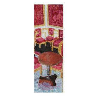 Red Interior:Chateau de Fontainebleau bookmark Double-Sided Mini Business Cards (Pack Of 20)