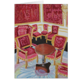 Red Interior:Chateau de Fontainebleau Card