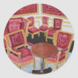 Red Interior:Chateau de Fontainebleau Classic Round Sticker