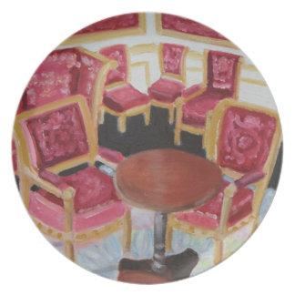 Red Interior:Chateau de Fontainebleau Plate