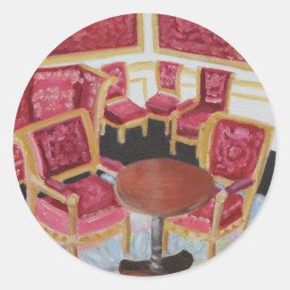 Red Interior:Chateau de Fontainebleau Classic Round Sticker