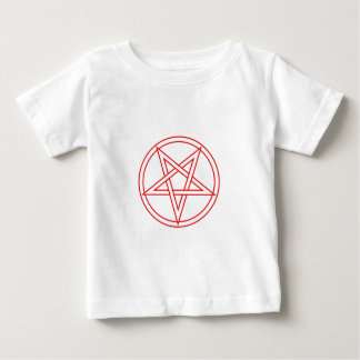 Red Inverted Pentacle Baby T-Shirt