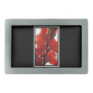 Red Iris Belt Buckle