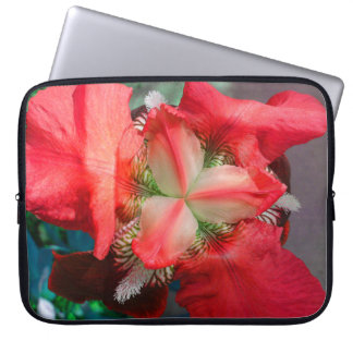 Red Iris Flower Laptop Sleeve