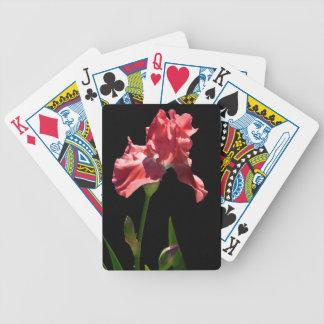 Red Iris Bicycle Playing Cards