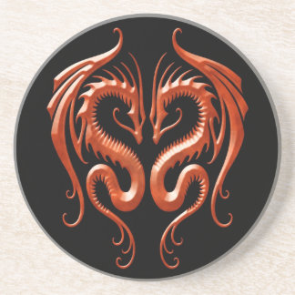 Red Iron Dragons Sandstone Coaster