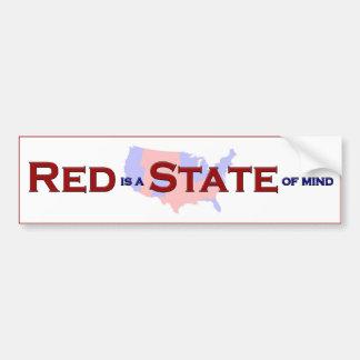 RED is a STATE of Mind - Bumper Sticker Car Bumper Sticker