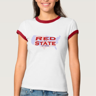 RED is a STATE of Mind - Women's Ringer Baby Tee