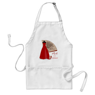 Red is a Statement Adult Apron