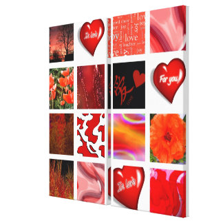 red is Love, rot ist die Liebe, Stretched Canvas Prints