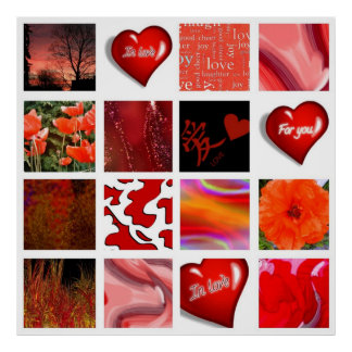 red is Love, rot ist die Liebe, Poster