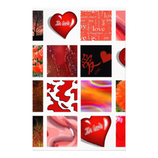 red is Love, rot ist die Liebe, Stationery