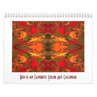 Red is my Favorite Color Calendar