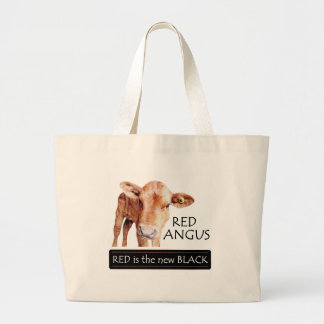 Red is the new Black Large Tote Bag