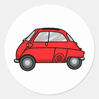 Red Isetta Classic Round Sticker