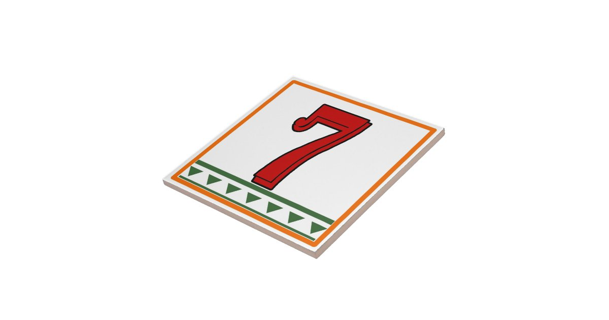 Red italian letters numbers ceramic tile zazzle for Ceramic tile numbers and letters