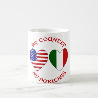 Red Italian USA Country Heritage Coffee Mug