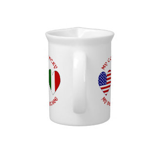 Red Italian USA Country Heritage Drink Pitchers