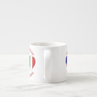 Red Italian USA Country Heritage Espresso Cup