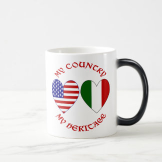 Red Italian USA Country Heritage Magic Mug