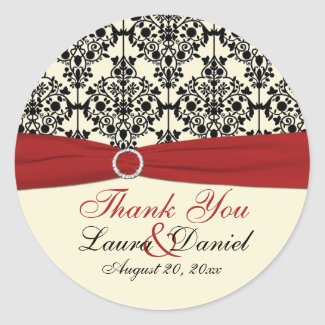 Red, Ivory, and Black Damask 3