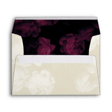 Halloween Themed Red   Ivory Roses Wedding Invitation Envelopes
