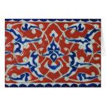 Red Iznik Turkish Tile Ottoman Empire Cards